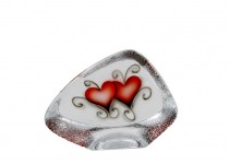 Crystal Ink Heart glasrelief 110 mm
