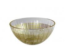 Facett skål guld 200 mm