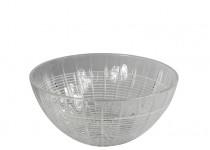Facett skål vit 200 mm