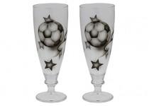 Ölglas Fotboll svart 38 cl 2 st