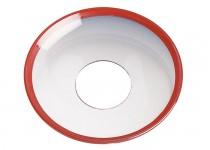 Ljusmanschett  klar med röd kant, 65mm. 4st