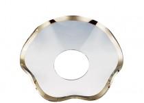 Ljusmanschett  vågig med guldkant, 55mm. 4st