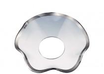 Ljusmanschett  vågig med silverkant, 5mm. 4st