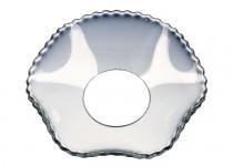 Ljusmanschett  vågig med pärlkant, 65mm. 4st