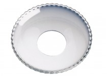 Ljusmanschett  pärlkant, 65mm. 4st
