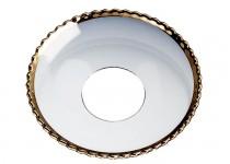 Ljusmanschett  pärlkant/guld, 65mm. 4st