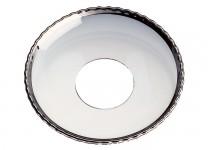 Ljusmanschett  pärlkant/silver, 65mm. 4st